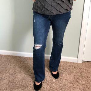 NY & company destructed jeans